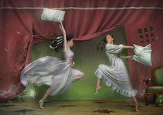 O Tapete Vermelho da Imagem: Images' Red Carpet: Luta de almofadas / Pillow fighting
