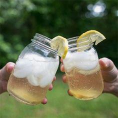 Bourbon Ginger Fizz, an easy summer drink.