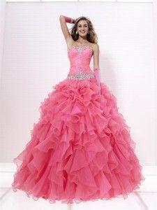 Suknie balowe bez ramiączek do podłogi Organza Sukienki studniówkowe  #SP5269