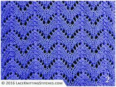Lace Knitting No.35. Horseshoe - A classic lace stitch pattern