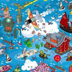 EBOY | VANCOUVER | WWW.HELLO.EBOY.COM  Hinter den weltbekannten Pixelwelten und Toys von Eboy stecken Svend Smital, Steffen Sauerteig und Kai Vermehr, die bereits seit 1997 zusammenarbeiten. Svend und Steffen haben in Berlin an der Hochschule der Künste ...
