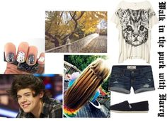 """""""Walk in the Park with Harry"""" by for-the-love-of-music ❤ liked on Polyvore"""