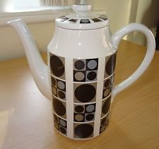 Vintage Midwinter Focus Coffee Pot By Barbara Brown