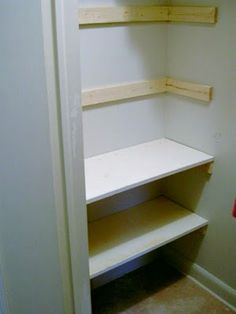 Adding shelves to closet  glad I saw this