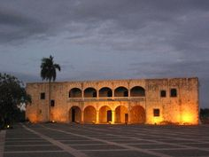 The courtyard of the colonial zone. The arched doorways and the two stories are typical still today. Zona Colonial, Dominican Republic, Latin America, Caribbean, Things To Do, Explore, Country, Architecture, World