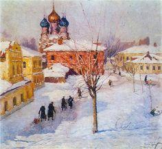 "Igor Grabar, ""Zamoskvorechye Thoroughfare"".  Igor is a Russian post-impressionist painter, publisher, restorer and historian of art."