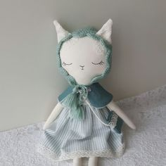 This was a custom order, mint Kitty on her way to USA. Now sleeves up and back to work!  Hope to finish some on weekend..... #handmade #fabricfordolls #bunnydoll #catdoll #kitty #cat #clothdoll #birthdaygift #dollmaker #softtoy #babygifts #nursery #kids #dolls #heirloomdoll #lovehandmade #handmadedolls #giftforgirls #mint