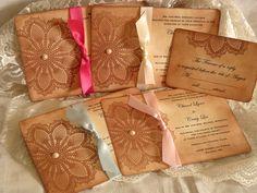 Lace Wedding Invitations Vintage Inspired by VintageParisMarket, $7.00