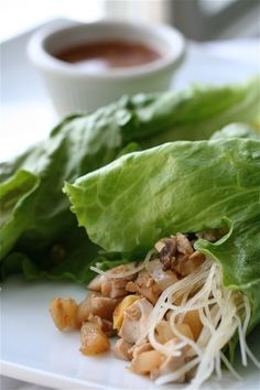 I ate some awesome vegetarian lettuce wraps at a place in NJ and have looked for something similar ever since.  I may have to make my own and this recipe looks like it might be it.