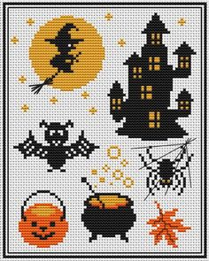 Thrilling Designing Your Own Cross Stitch Embroidery Patterns Ideas. Exhilarating Designing Your Own Cross Stitch Embroidery Patterns Ideas. Fall Cross Stitch, Simple Cross Stitch, Cross Stitch Charts, Cross Stitch Designs, Cross Stitch Patterns, Halloween Beads, Theme Halloween, Halloween Patterns, Cross Stitching