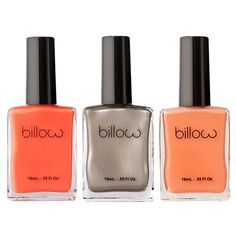 Billow Everything Is Peachy Nail Polish Set (£33) ❤ liked on Polyvore featuring beauty products, nail care, nail polish, beauty, nails, makeup, cosmetics and fillers