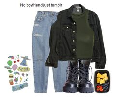 """""""No boyfriend just tumblr"""" by onlytsubery ❤ liked on Polyvore featuring FoodSaver, American Apparel and Topshop"""