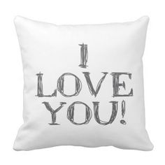 I love you! Pillow by cafelab