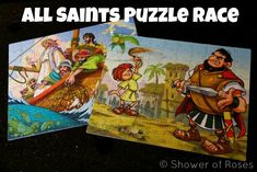 Shower of Roses: All Saints' Day Party Games :: A Saintly Jigsaw Puzzle Race!