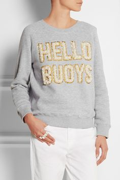 Ashish - Hello Buoys embellished cotton-blend jersey sweatshirt aa620834812a