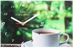 Zelené kuchynské hodiny so šálkou kávy Coffee Time, Ale, Mugs, Tableware, Dinnerware, Ale Beer, Tumblers, Tablewares, Coffee Break
