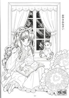 ぬりえ『ジョアンナ』 1998年(3) の画像|☆ドリーミィー・フェザー☆