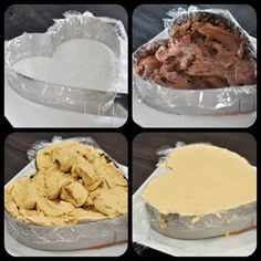 How To Make An Easy Ice Cream Cake-this would be so yummy with some crushed up oreos (or heath bar?) in between the two ice cream layers