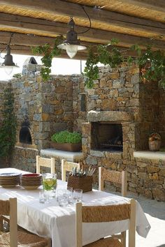 We <3 Home Design — Outdoor Pizza/Bread Oven with Fireplace