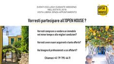 L'Open House verrà promosso ad un pubblico mirato attraverso attività di marketing su diversi canali di comunicazione, sia fisici che digitali, e inviti ad appuntamenti privati riservati a clienti mirati.  #openhouseswissitaly #openhouse #open #house Open House, Marketing, Open Plan House