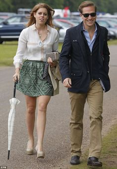 Princess Beatrice with her boyfriend Dave Clark at the Cartier Queen's Cup at Guards Polo in Windsor Great Park, Berkshire
