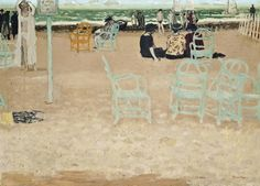 """Maurice Brianchon (France Sur la plage oil on canvas x 92 cm "" Lawrence Lee, Van Gogh Paintings, France, Art For Art Sake, Beach Scenes, Outdoor Art, French Art, Painting & Drawing, Landscape Paintings"