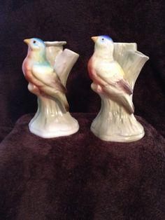 Vintage Czech Pottery Bird Triple Vase  by MyGreatVintageFinds, $55.00