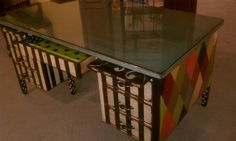 Teacher style desk..  http://www.facebook.com/pages/Designs-By-Casey-Lisa-Heeter/131147253577162?ref=hl