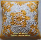 2 Hawaiian quilt handmade cushions 100% hand quilted/appliqued pillow covers NEW - http://crafts.goshoppins.com/handcrafted-finished-pieces/2-hawaiian-quilt-handmade-cushions-100-hand-quiltedappliqued-pillow-covers-new/