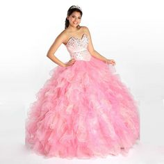Lovely Sweetheart Quinceanera Dresses Pink Color Lace Inside Tulle Skirt Vestidos De Debutantes De 15 Anos Puffy Ball Gowns Perfect In Workmanship Quinceanera Dresses