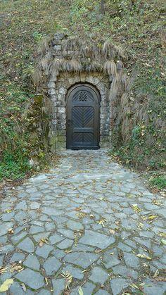 Secret door, Castle Bran, Romania