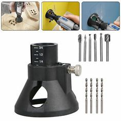 Rotary Multi Tool Cutting Guide Attachment Kit HSS Router Drill Bits for Dremel … – Tools – Dremel Dremel Werkzeugprojekte, Dremel Wood Carving, Dremel Rotary Tool, Dremel Bits Guide, Drill Guide, Dremel Tool Bits, Accessoires Dremel, Router Drill Bits, Router Tool