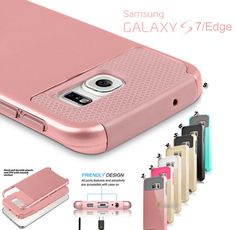 Galaxy S7, S7 Edge - Glossy Dual Layer, Dual Color Protective Case in Assorted Colors