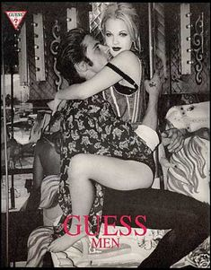 Guess Men ad. Drew Barrymore (1993).