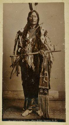 Čhetáŋ Čík'ala (aka Cetan Cikala, aka Little Hawk), the son of Makes The Song & Good Haired Otter Woman, and the husband of Shunk Ska Win (aka White Horse Woman) - Oglala - before his death in 1899➳ʈɦuɲɖҽɽwσℓʄ➳