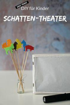 Wir basteln ein Schattentheater für Kinder. Schattenspiele machen Kinder nicht nur Spaß, sie können Geschwister (also Baby und Kleinkind) auch zu einer besseren Bindung verhelfen