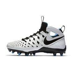 Nike Huarache V Lacrosse Cleat (Men's Sizing) Size 12 (White) - Clearance