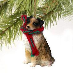 #Australian shepherd dog christmas ornament #holiday xmas #figurine scarf pet bro,  View more on the LINK: http://www.zeppy.io/product/gb/2/331170125704/