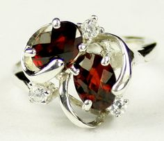Garnet approximate stone size 7x5mm approximate stone weight