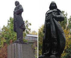 Lenin Monument Was Replaced by Darth Vader
