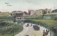 Well before the Tritons Fountain was erected in Floriana, Malta Malta Valletta, Maltese, Old Photos, Fountain, Wellness, History, Painting, Vintage, Old Pictures