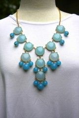 Bubble Style Necklace - Light Blue USE bubble20 at checkout to receive 20% off today!