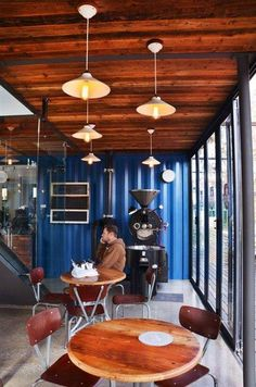 Coffee shop in a shipping container.