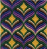 Bargello needlepoint, or Byzantine Work... Gorgeous!!