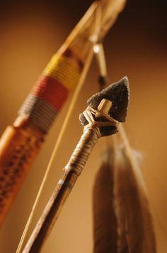 Primitive bow and arrow