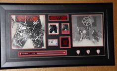 """Motley Crue autographed """"Too Fast For Love"""" record LP by Vince Neil, Nikki Sixx, Tommy Lee and Mick Mars."""