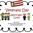 Veterans Day Word Wall Cards are a great way to teach students the patriotic vocabulary that will be used during this holiday.  Print, laminate, an...