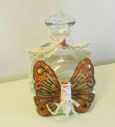 Altered Art Altered Bottle Butterfly Bottle by BuffsEmporium, $10.00