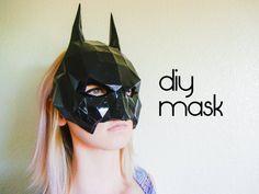 Batman Mask - Make your own with a PDF Download - batman costume, batman cowl, mask template, papercraft, superhero costumes, halloween, diy