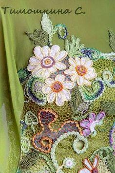 Irish crochet &: Красивые мотивы для Ирландского кружева. Идеи, без схем.